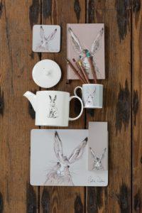 Image of Caroline Walker, Hares range of tabletop gifts