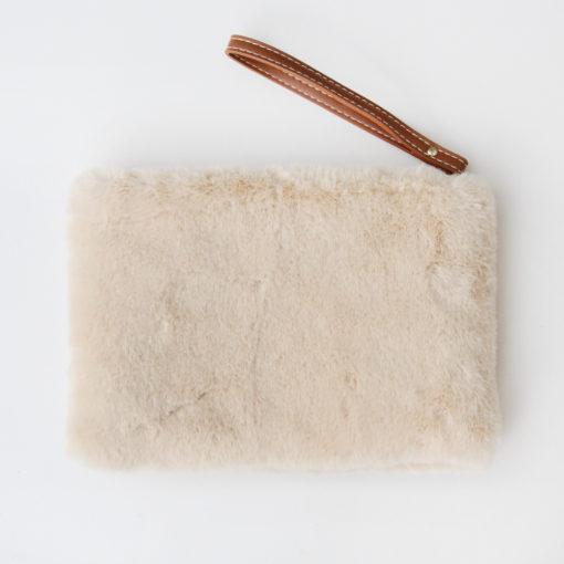Ivory Fluffy Purse