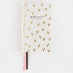 Hearts Address and Birthday Book